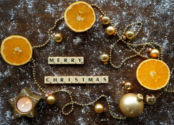 christmas oranges and necklace