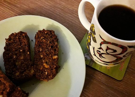 Banana Cake and Coffee